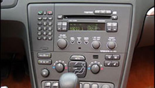 I midtkonsollen er det orden i knappene. Alle funksjoner er lett tilgjengelig.