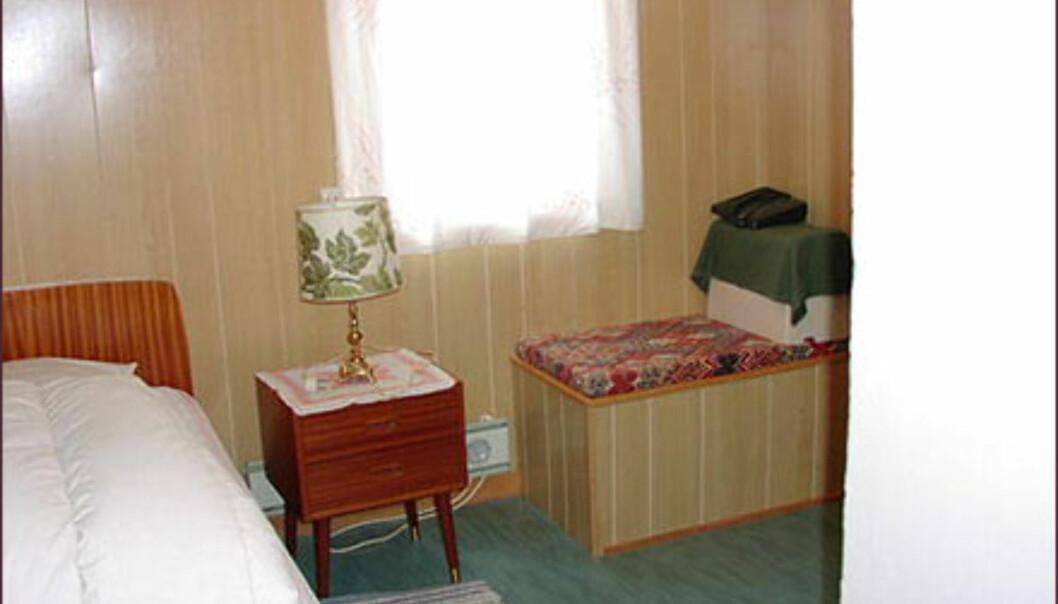 Ikke akkurat tidsriktig soverom i Hammerfest. <I>Foto: Postbanken/FINN.no</I> Foto: Postbanken/FINN.no