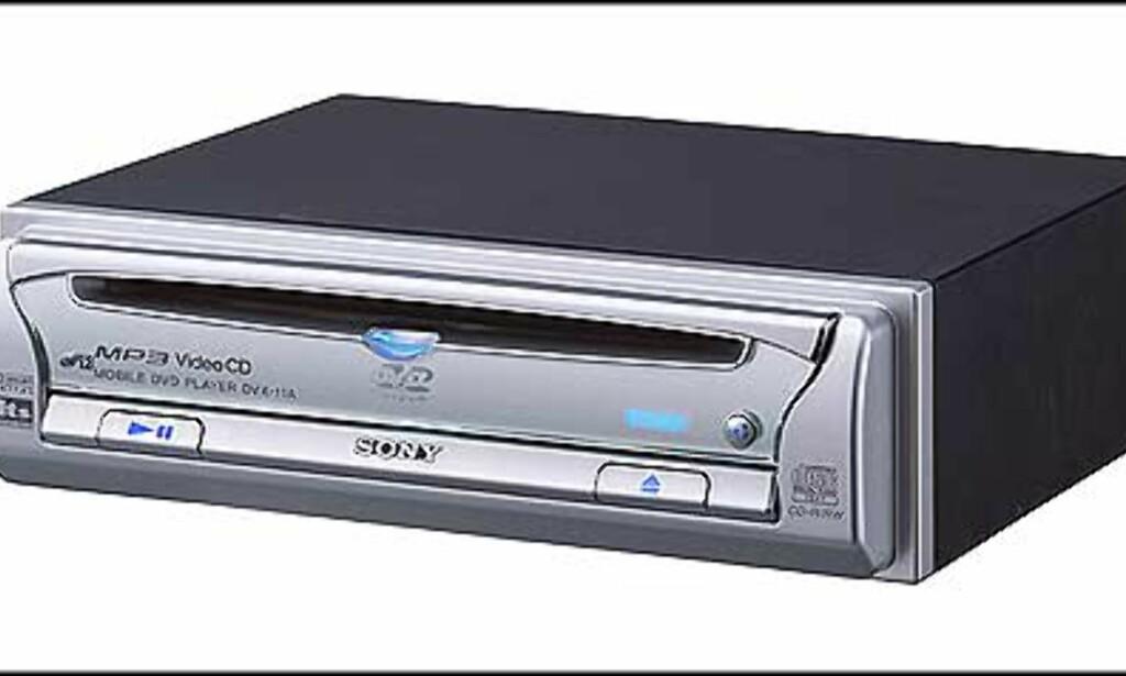 DVX-11A: CD, MP3, & DVD spiller som lanseres i juli - veiledende pris = 5.700.-  Kan plasseres  i hanskerommet, eller der headuniten står.  •Spiller Mp3, CD, video CD og DVD.