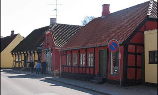 """Sæby's hyggeligste gate, """"Strandgade""""."""