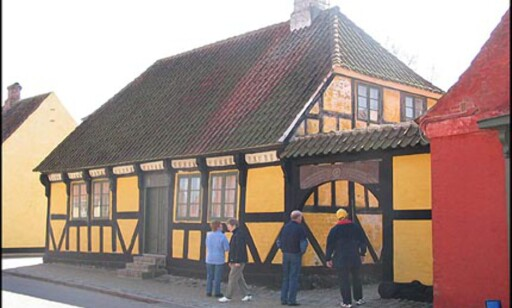 Det gule bindingsverkshuset i Strandgade.