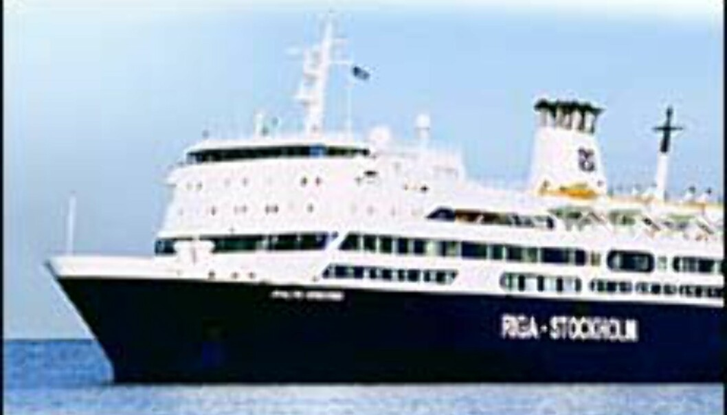 Riga Sea Line seiler mellom Stockholm og Riga.<br /> <I>Foto: Riga Sea Line Foto: Riga Sea Line
