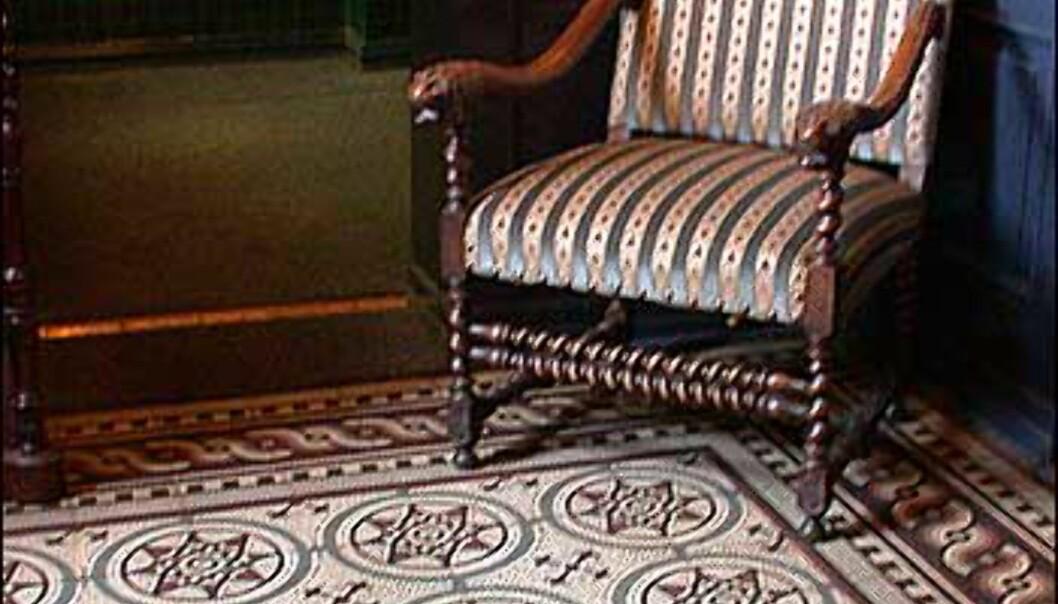 Mosaikkgulvet fant restauranteierne da de pusset opp huset.