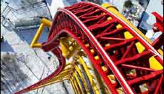 Mer enn hundre meter rett ned - for den som tør i Cedar Point, USA. <I>Foto: Cedar Point</I> Foto: Cedar Point