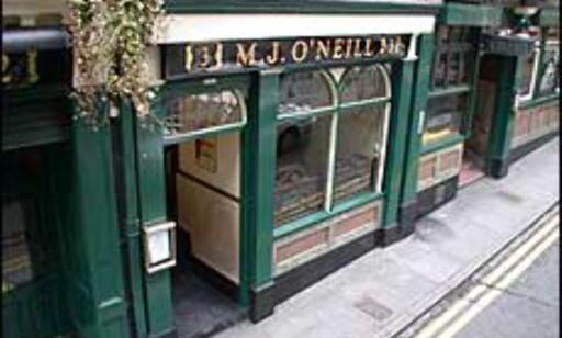 O'Neill's like ved turistsenteret.