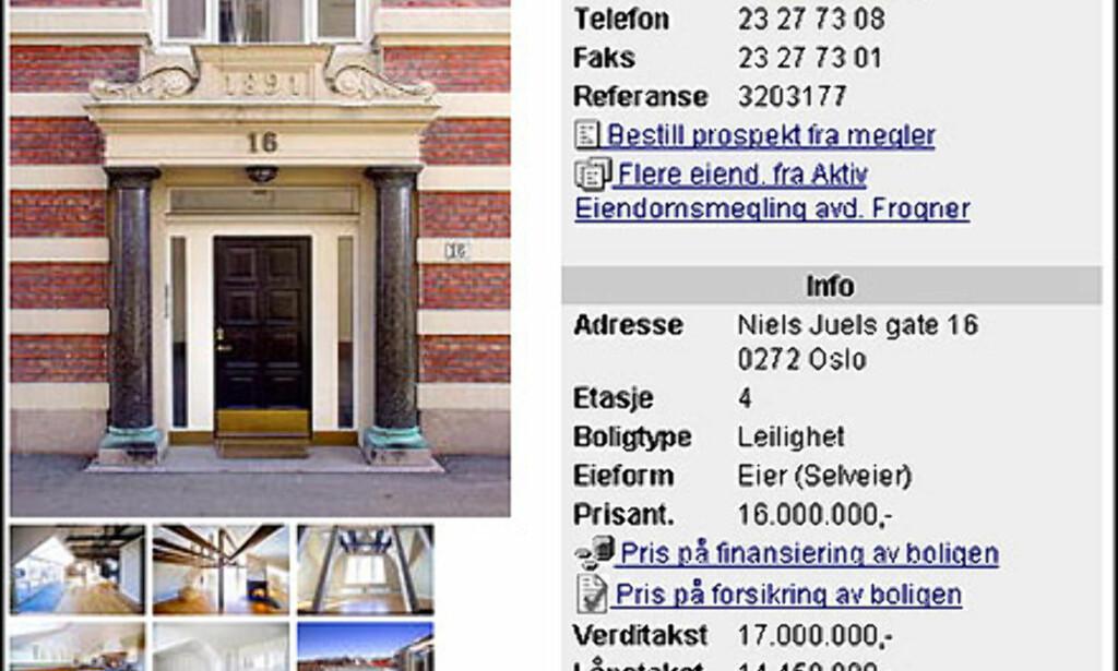 image: April: Oslos dyreste leilighet