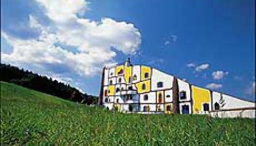 Hunderdtwassers arkitektur er lett gjennkjennelig. <I>Foto: Rogner Bad Blumau</I> Foto: Rogner Bad Blumau