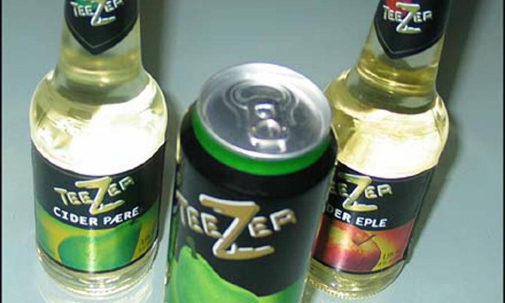 Gode cidere fra Teezer. Flaske = 23.- Boks 28.90.-