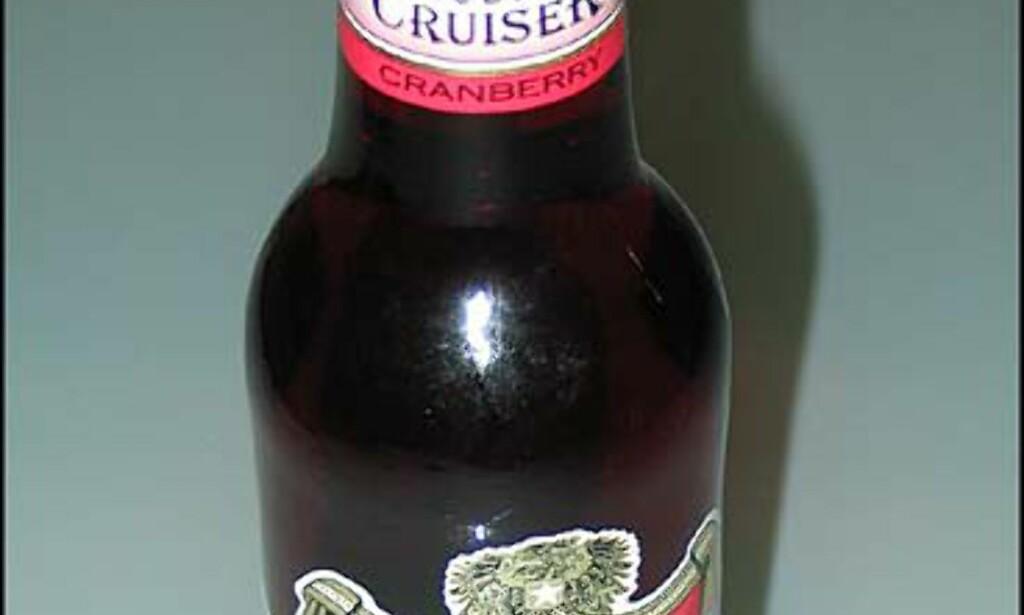 Cruiser Vodka Cranberry. 21,90.- Ikke populær den heller.