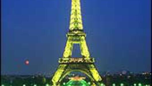 Verdens mest besøkte bygning - Eiffeltårnet i Paris.
