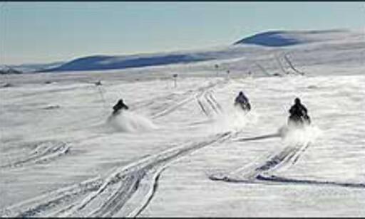 Full gass inn i de svenske fjellene.