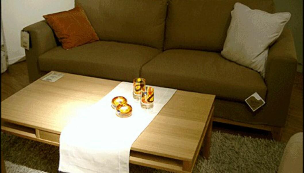 <center>Sofaen Straight koster bare 3.990 kroner. Fås hos Skeidar.