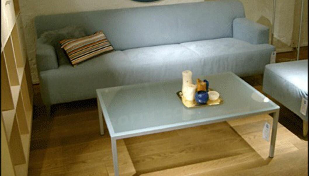 <center>Sofaen Firenze koster 12.450 kroner, og er med det ikke av de aller billigste. Men den er tross alt av lær. (Bolia.com)