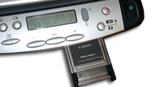 MPC200 Photo leveres med en PCMCIA-adapter for CF-kort. Trenger du en annen adapter, ligger prisene på rundt 2-300 kroner. Du kan da skrive ut digitale bilder direkte, uten PC-tilkobling.