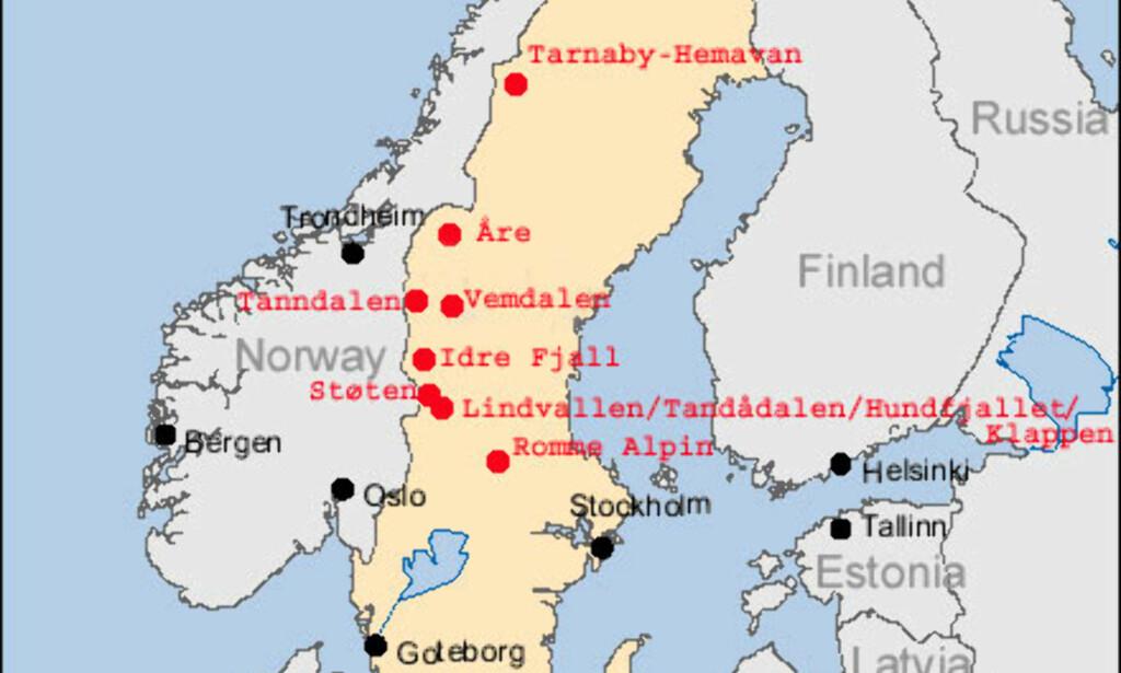 kart sverige avstander Vinter: Kart og avstander   DinSide kart sverige avstander