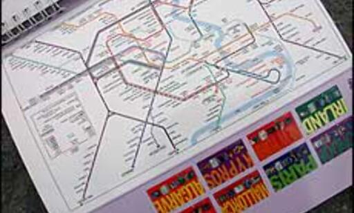 Det er greit å vite hvor nærmeste metrostasjon befinner seg... Dette kartet er hentet fra Gyldendals Spiralguide. Alle bilder: Inga R. Holst