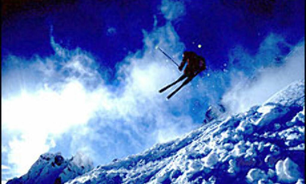 """""""Flying High"""" - spektakulært skihopp fra Chamonix. <I>Foto: Torbein Kvil Gamst</I> Foto: Torbein Kvil Gamst"""