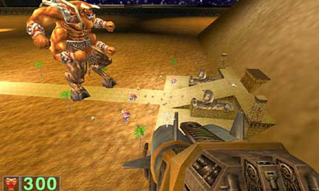 En scene fra det første Serious Sam-spillet