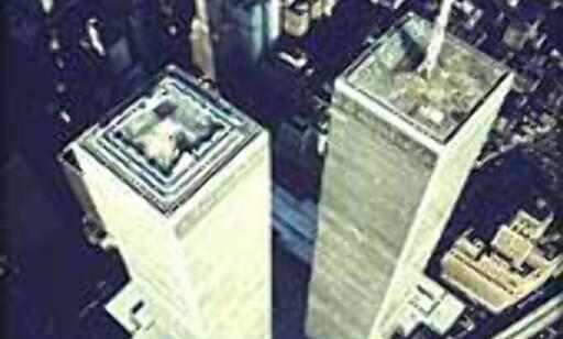 World Trade Centers tvillingtårn slik de stod før terroraksjonen rammet.