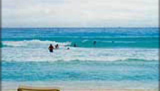 På stranda i Cancun får du ro i sjelen. Foto: INGVILD KJØDE