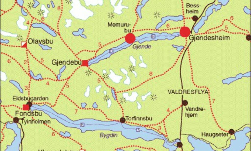 kart besseggen Reise: Kart: Besseggen   DinSide kart besseggen