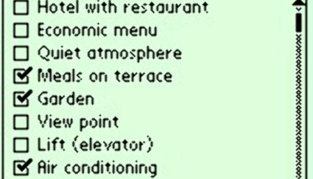 Hvis du <I>kun</I> vil spise utendørs, hjelper guiden deg også med dette.