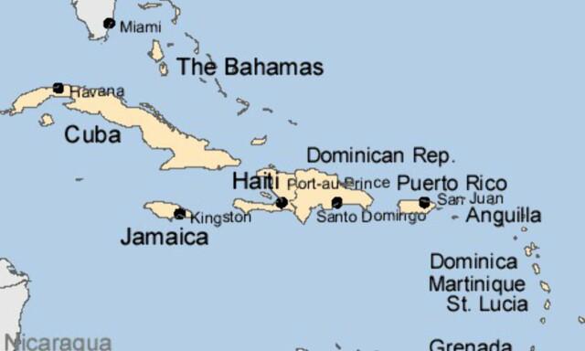 Amerika Kart Over Karibien Dinside