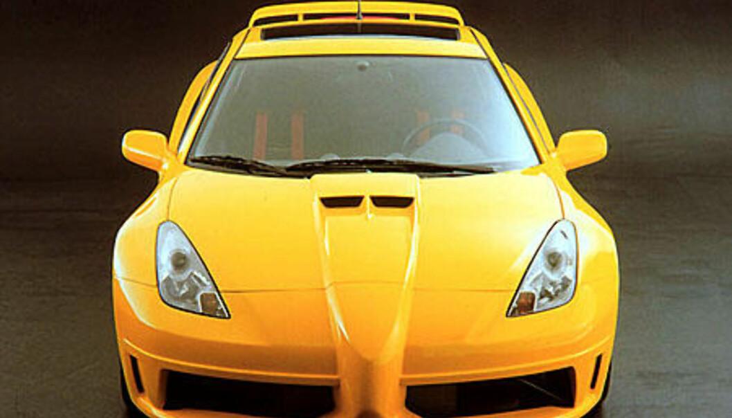 Stort bilde Celica Extreme rett forfra