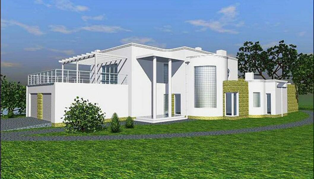 <i>Villa Moderna</i> fra Urbanik Hus. <i>Bildet er gjengitt med tillatelse fra produsenten.</i>