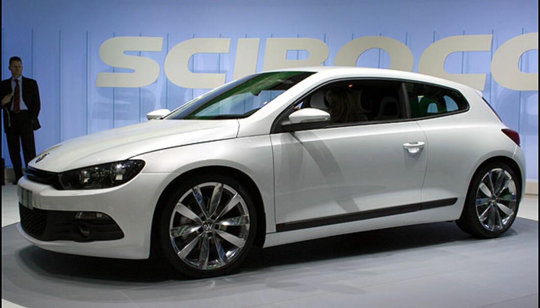 <strong>En klassiker fra 70-tallet får sin etterfølger:</strong> VW Scirocco. Minner kanskje litt om Volvo C30?