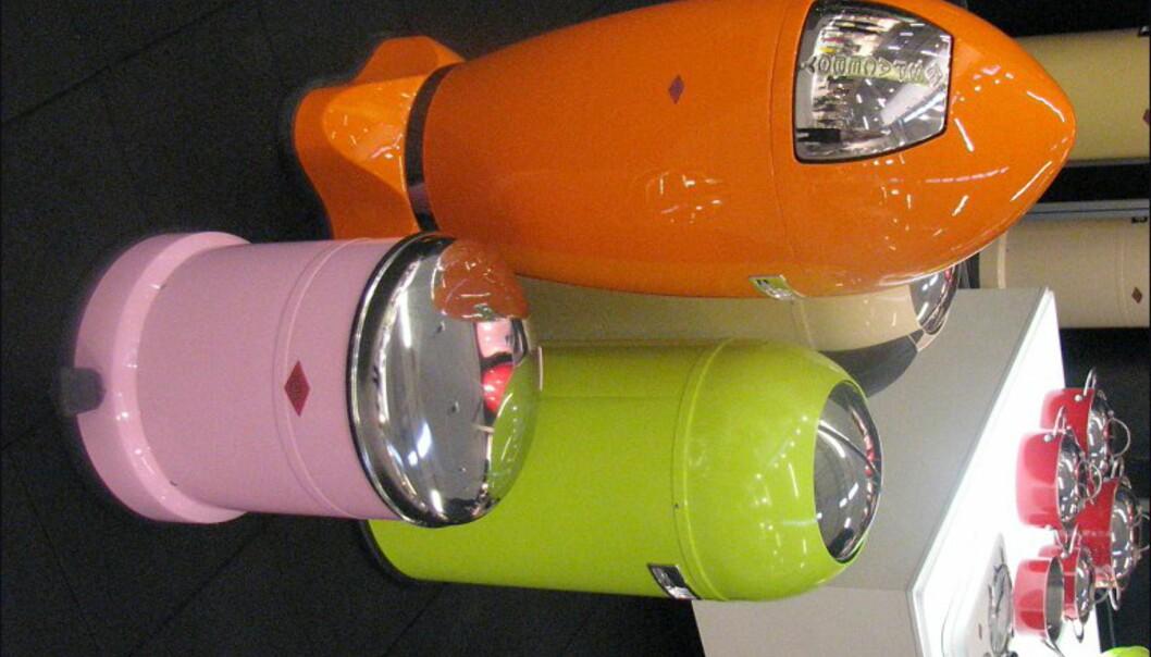 Søppel skal også kastes et fint sted. Disse er fra Wesco.