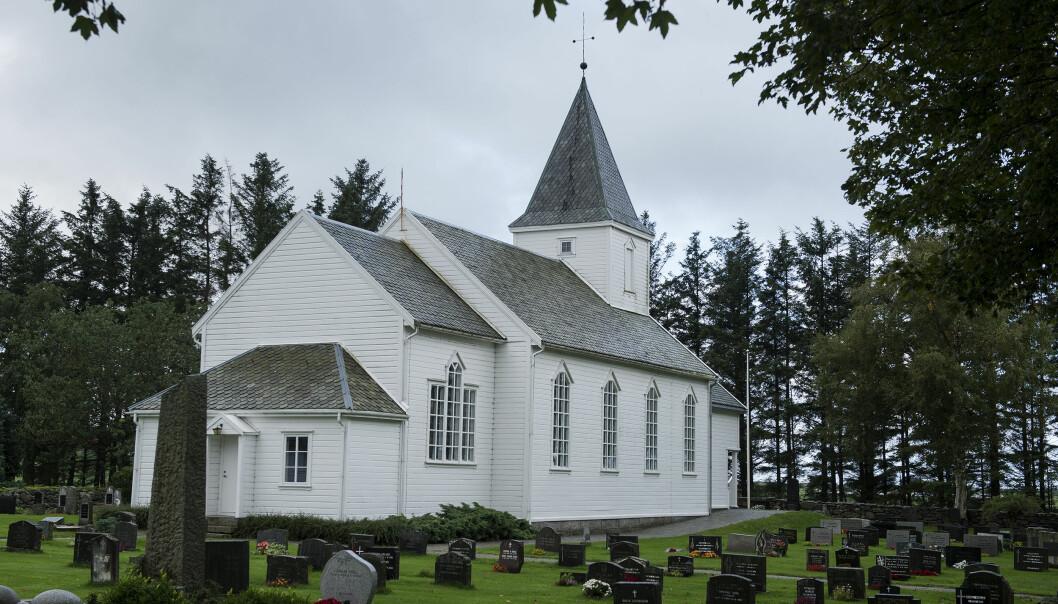 Tina Jørgensen ble funnet i kummen på parkeringsplassen utenfor Bore Kirke i Rogaland. Foto: Carina Johansen / NTB scanpix