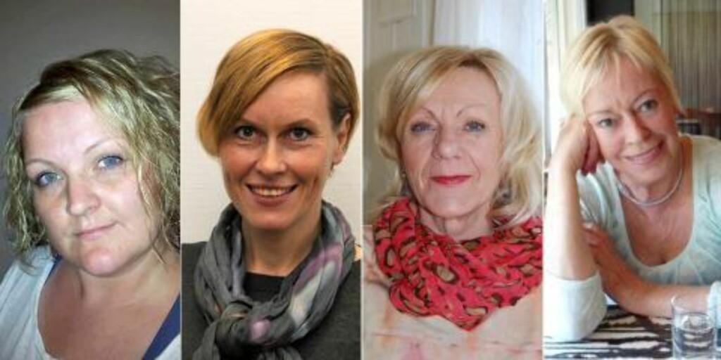 TESTPANELET: F.v. Hanne Cathrine Hauge Einarsen (35), Gøril Undertun (46), Ragnhild Ward Bugten (56), Eli Sesseng (65). Foto: Privat