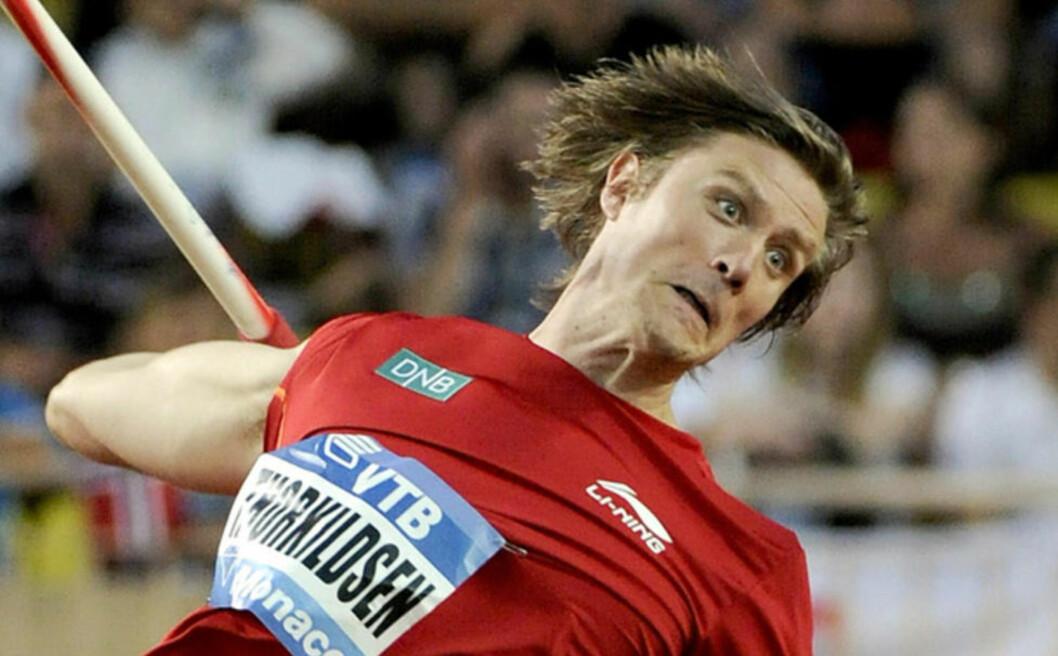 GIR ALT:  Andreas Thorkildsen har kledd på seg angrepsansiktet. Nå er han optimist før VM. Foto: Oliver Anrigo / REUTERS / NTB Scanpix