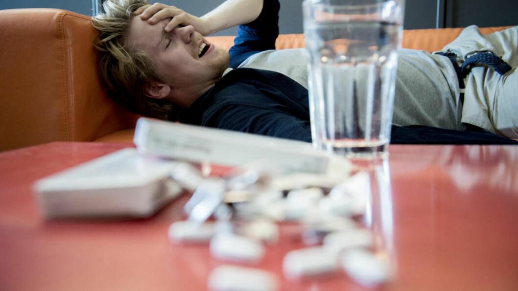 HODEPINE: Ipsos MMI har på oppdrag for Dagbladet undersøkt nordmenns medisinbruk. Hele 89 prosent svarer at de bruker smertestillende medikamenter - flesteparten for å dempe hodepine. Foto: THOMAS RASMUS SKAUG