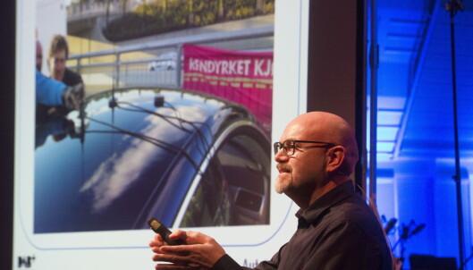 <strong>LØSNINGSORIENTERT:</strong> Alf M. Engvik ved AutoHIFI snakket om DAB-løsninger for bil under dagens møte om radiodigitalisering. Foto: Arne V. Hoem / Dagbladet