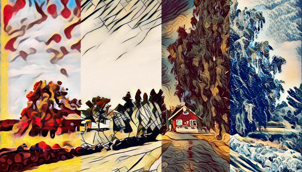 <strong>MANGE VARIANTER:</strong> Med Mac-appen Style kan du lage kunstverk både av bilder og video. Foto: Pål Joakim Pollen