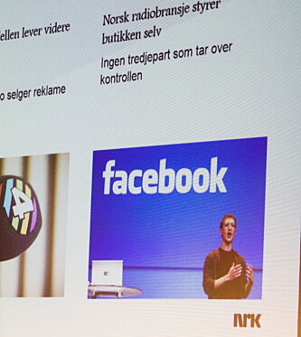 SPØKEFUGL: Eriksen harselerte med den pågående Facebook-debatten, og påpekte at det er vanskelig å publisere nakenbilder på radio. Foto: Arne V. Hoem / Dagbladet