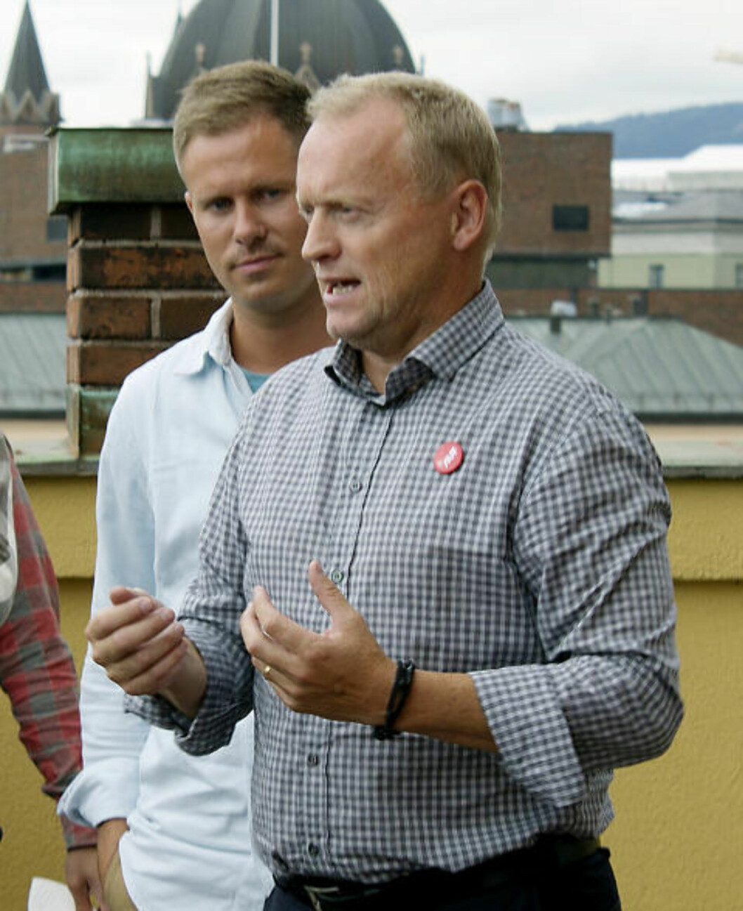 LANGE DAGER: Raymond Johansen (Ap) motivierer AUFerne til valgkampen. Foto: Maria Knoph Vigsnæs