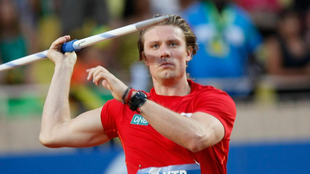 GULLHÅPET: Andreas Thorkildsen er det store gullhåpet i friidretts-VM. Foto: AP Photo/Claude Paris/NTB Scanpix