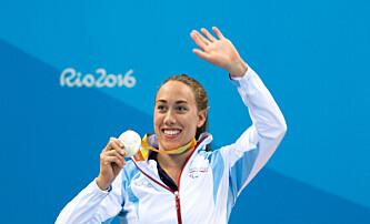 <strong>SØLV:</strong> Før hun tok sølv på 50 meter butterfly. <br>Foto: Caroline Dokken Wendelborg/ Norges idrettsforbund <div><br></div>