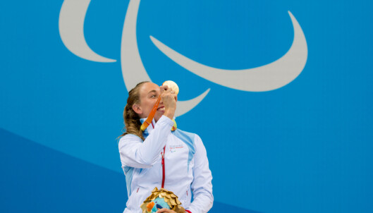 <strong><div>GULL:</strong> Før hun vant 100 meter bryst helt overlegent.<br>Foto: Caroline Dokken Wendelborg/ Norges idrettsforbund &nbsp;</div>