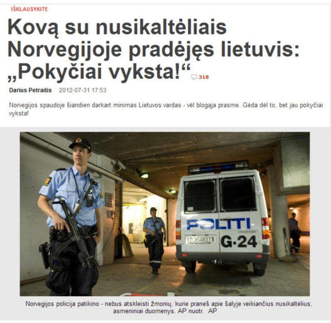 «robin hood» har startet krig mot de litauiske kriminelle