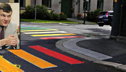 - Må gjerne male alle gangfelt i regnbuens farger