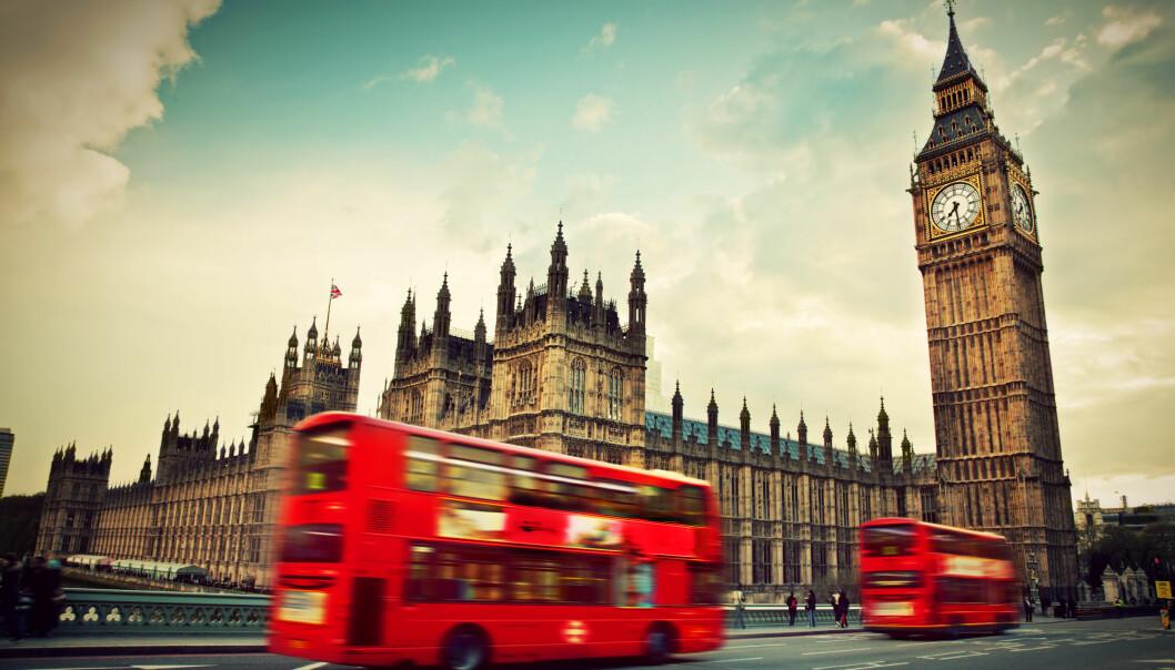 <strong>SVAKERE BRITISK PUND:</strong> Kursen på britiske pund er ikke lenger like skremmende som for bare noen måneder tilbake. Foto: SHUTTERSTOCK/NTB SCANPIX
