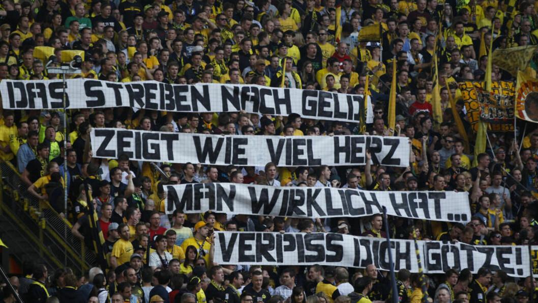 <strong>KLAR TALE:</strong> Mario Götzes overgang til Bayern München har satt sinnene i kok i Dortmund. Foto: REUTERS/Ina Fassbender