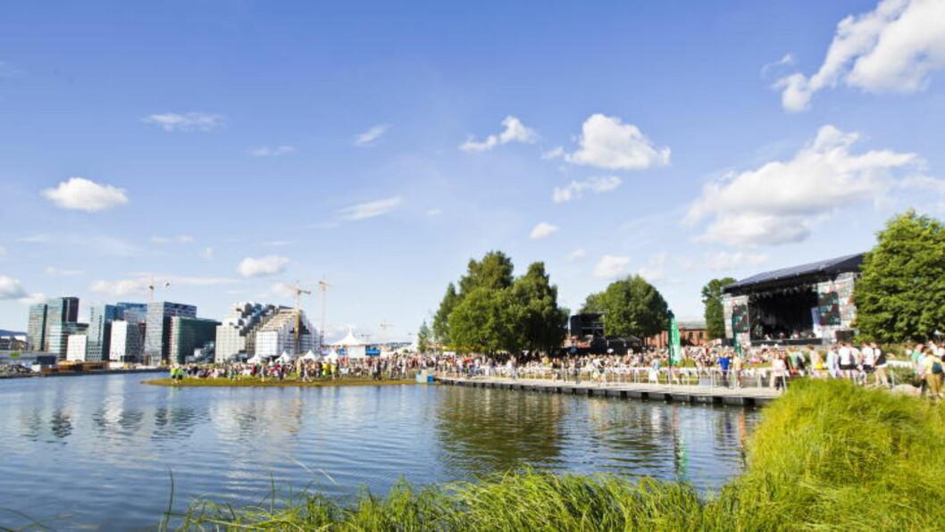 <strong>FLYTTER:</strong> Middelalderparken har vært et kjært område for mange festivalgjengere i mange år. Neste år flyttes Øyafestivalen til Tøyen
