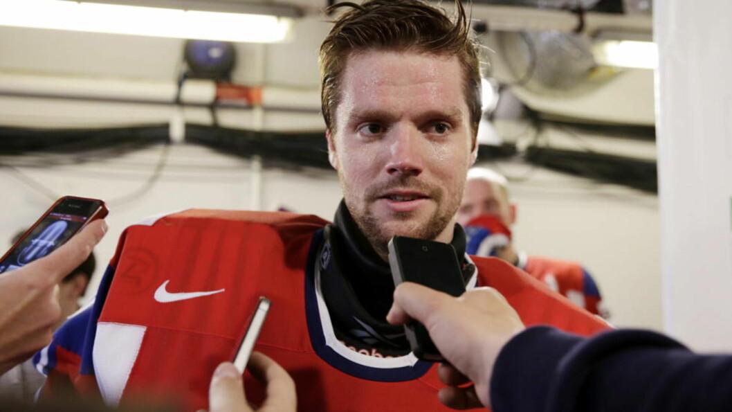 <strong>NORGES VEGG:</strong> Lars Haugen var Norges beste mot både Slovenia og Danmark. I kveld blir det hett når Canadas stjerner er motstandere. Foto: Håkon Mosvold Larsen / NTB Scanpix