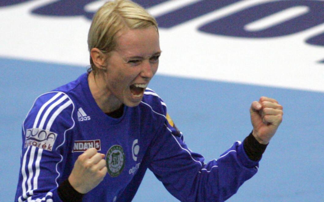 <strong> BEST:</strong>  Katrine Lunde Haraldsen sikret Györ-seier med storspill i buret. Foto: Aleksandar Djorovic / NTB scanpix