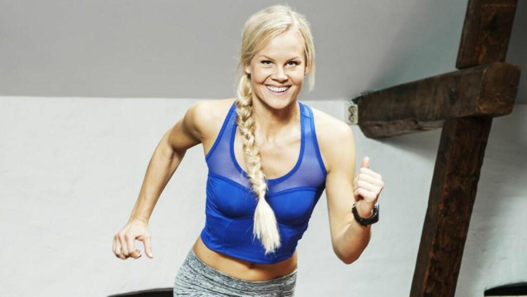 <strong>SUPERFORM:</strong> Politistudenten Charlotte viser deg åtte tunge og effektive øvelser for å komme i superform.  FOTO: Vegard Kleven
